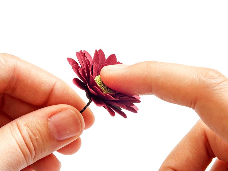 Stemmed Paper Flowers Tutorial - Chrysanthemums