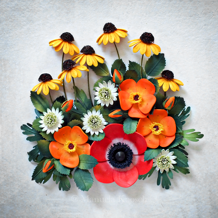 Paper Quilling Summer Flowers – Anemone, Coneflower, Astrantia and Wild Rose