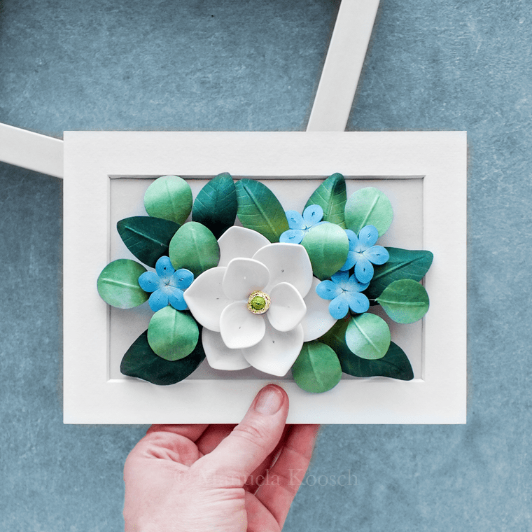 Flowers for Cancer – Paper Quilling Magnolia and Plumbago Wall Art