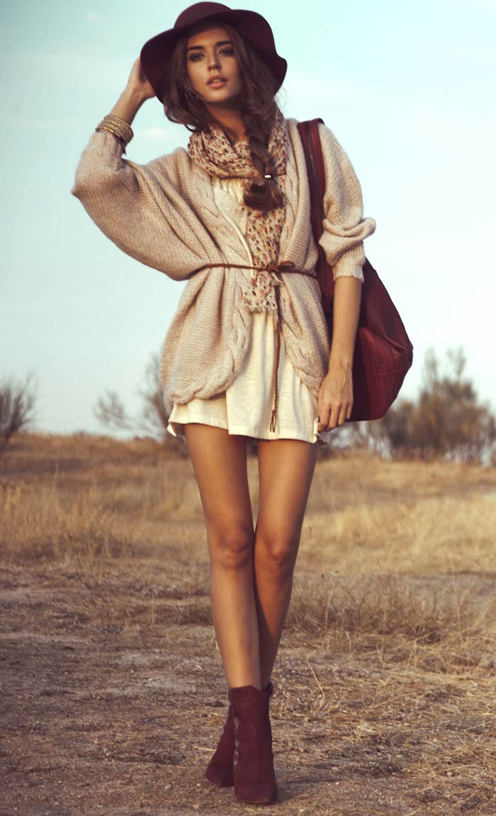 Look boho com ankle boots