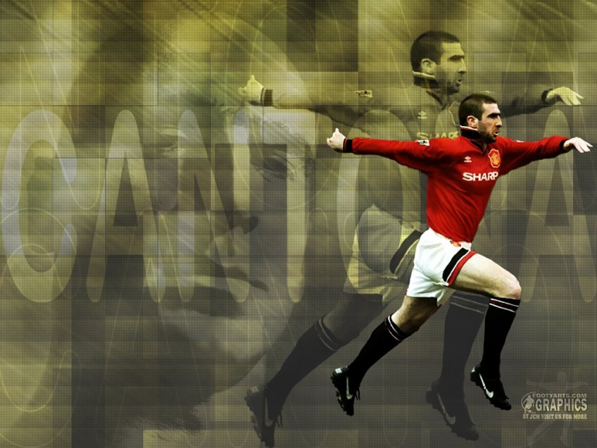 Ultra high quality 29.7cm x 21 cm glossy photo poster. Eric Cantona 3 Manchester United Wallpaper