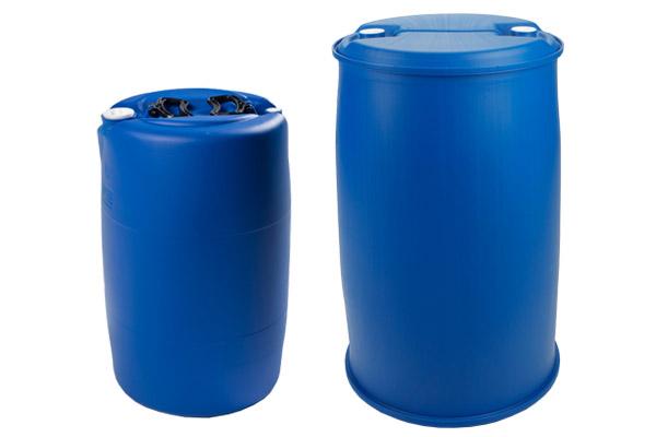 blue plastic tighthead drums