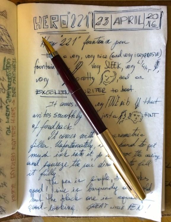 "The Hero ""221"" fountain pen: inexpensive, but not cheap."