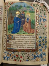The Visitation (Lauds, Hours of the Virgin, f. 35)