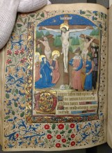 Crucifixion (Little Hours of the Cross (f. 65v)