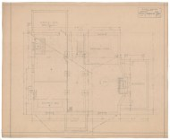 2. House for W. A. Wilcox, 165 Elizabeth Street, Hartford, 1919. Gift of Colonel and Mrs. Richard L. Shaw, 1999.100.389.5 [Basement plan].
