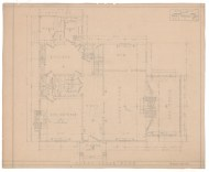 3. House for W. A. Wilcox, 165 Elizabeth Street, Hartford, 1919. Gift of Colonel and Mrs. Richard L. Shaw, 1999.100.389.6 [First floor plan].