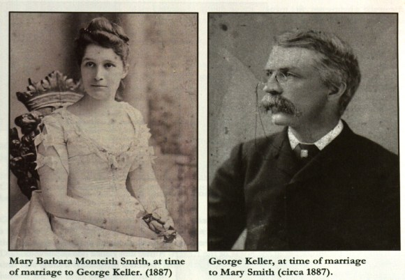 Pulbished photographs of Mary Monteith Smith and George Keller, ca. 1887.