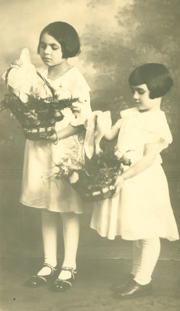 Girls with Baskets of Flowers, early 1900s. The Connecticut Historical Society, Gift of Gennaro J. Capobianco, 2005.180.21.17
