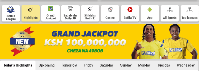 Betika Grand Jackpot this weekend