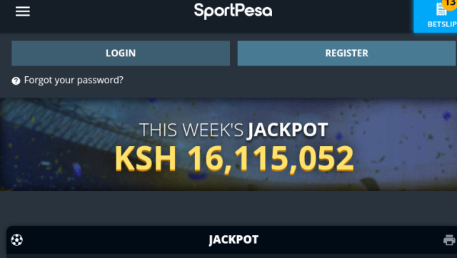Sportpesa midweek Jackpot 09/03/2021