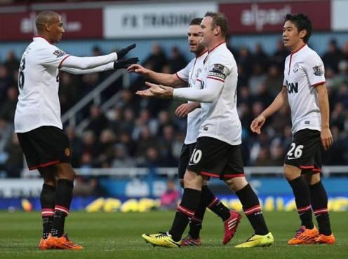 Rooney scores the second against West Ham