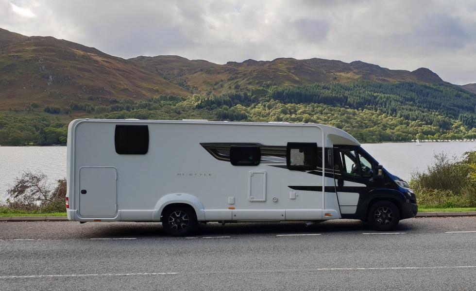 Motorhome at Loch-Fyne