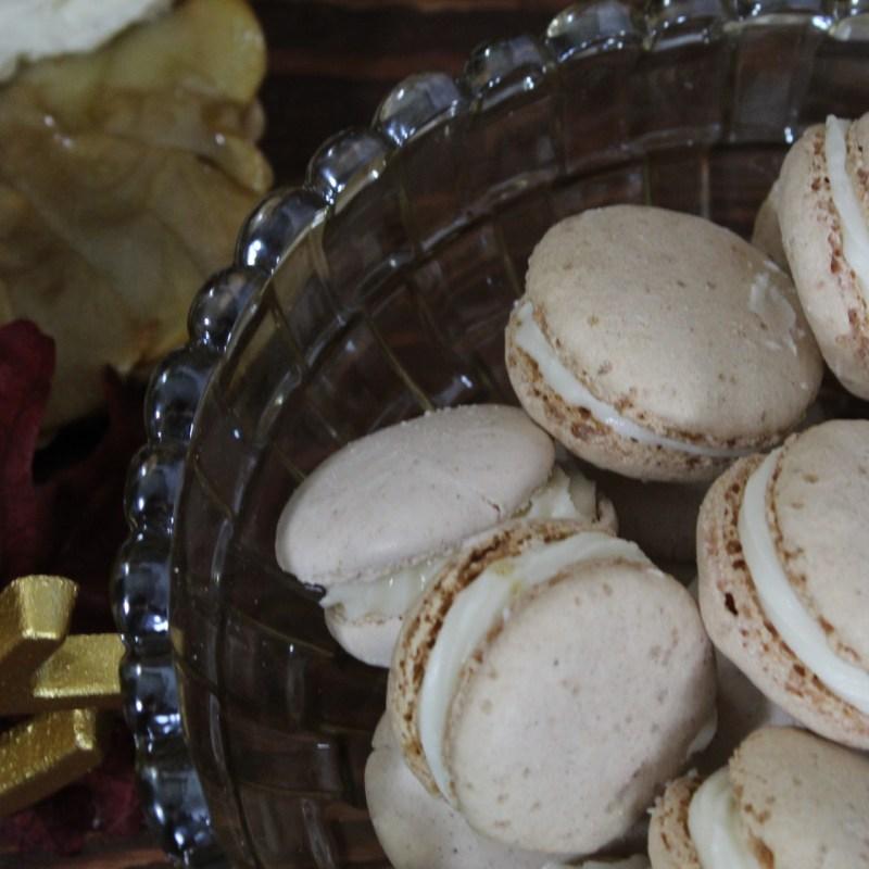 Spiced Walnut and Apple Macarons