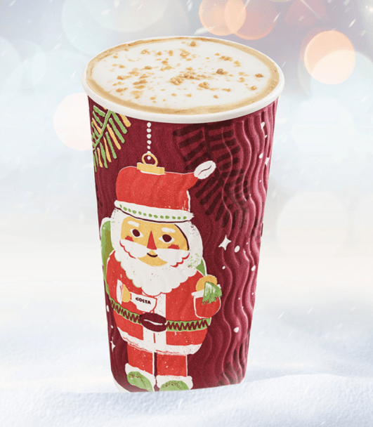 Festive drinks 2017 - Costa Salted Caramel Cappuccino