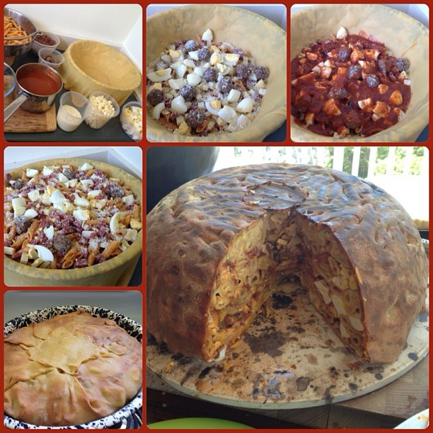 big night timpano recipe, big night timbale, the big night timballo