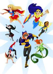 dc super hero girls, kids licensed products, super heroes for girls, women and comics, gender and comics, wonder woman,