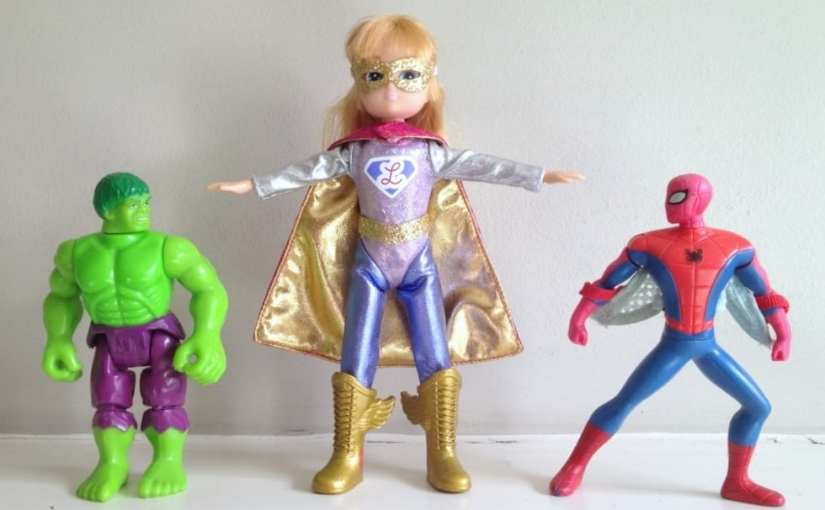 Lottie Dolls, Hulk, Spider-Man, Super Lottie, Female Superhero Doll, Female Superhero Action Figure, Female Superhero Toy,