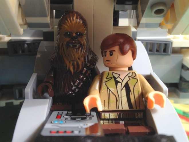 Han Solo LEGO minifig, LEGO Star Wars Han Solo, LEGO Star Wars Chewbacca,