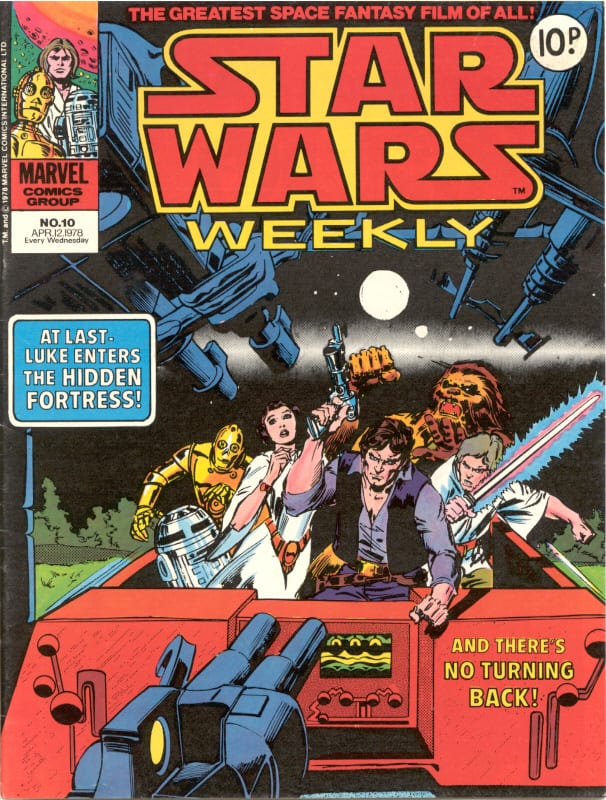 Marvel UK Star Wars Weekly Comic 1978 - issue 10