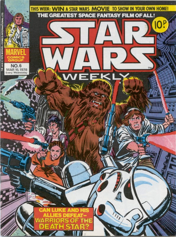 Marvel UK Star Wars Weekly Comic 1978 - issue 6
