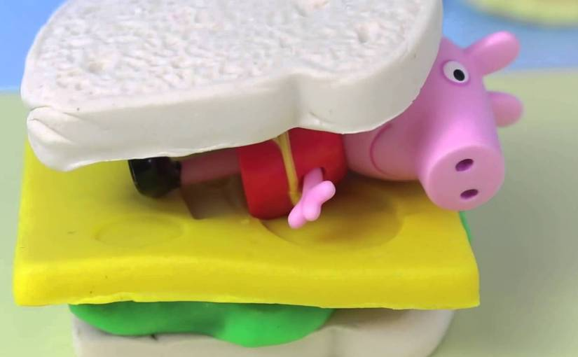 Eating Peppa Pig, Peppa Pig Ham, Peppa Pig Bacon