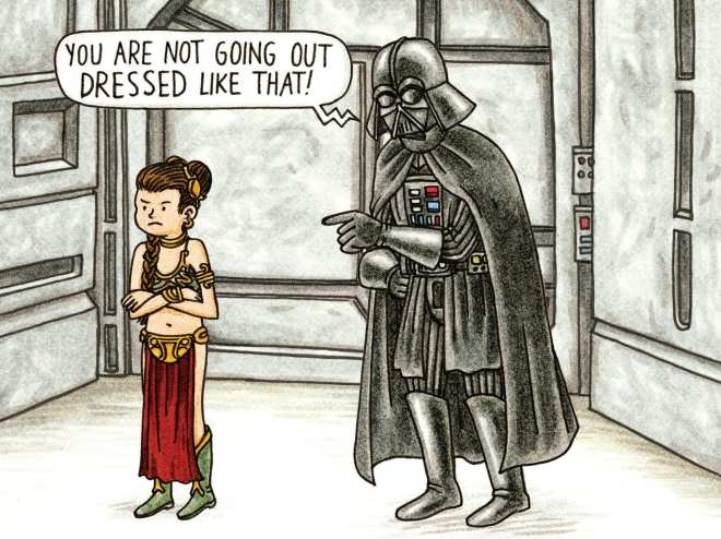 'Vader's Little Princess' by Jeffrey Brown. Published by Chronicle Books.