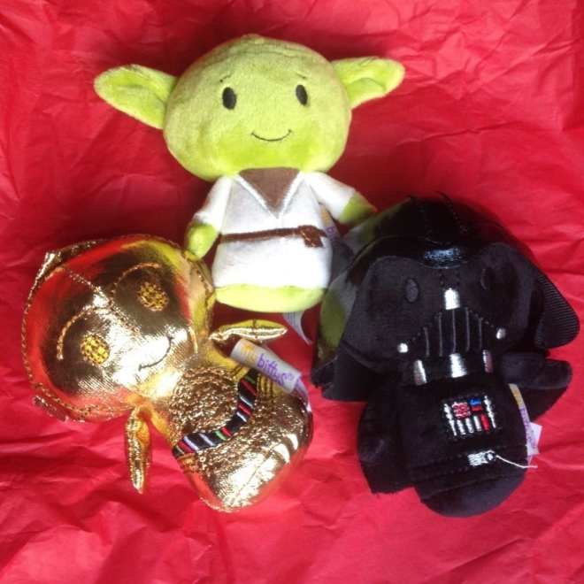 Star Wars Cuddly Toys, Yoda cuddly toy, Darth Vader cuddly toy, C-3PO cuddly toy
