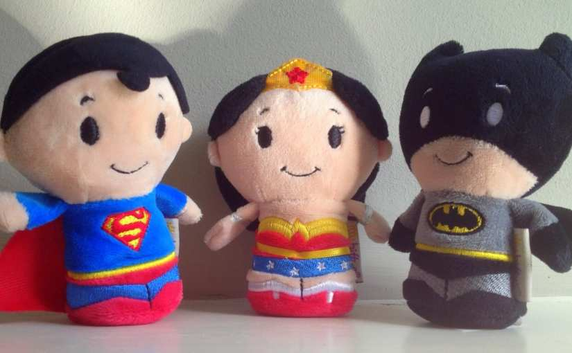 Itty Bitty Justice League – Batman, Superman, and Wonder Woman Plush Toys