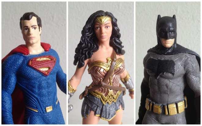 Superman Wonder Woman Batman Schleich figurines
