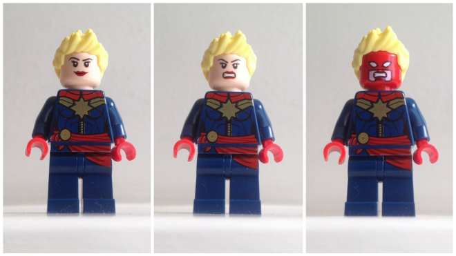Captain Marvel LEGO minifigure, Carol Danvers LEGO minifigure, Captain Marvel LEGO