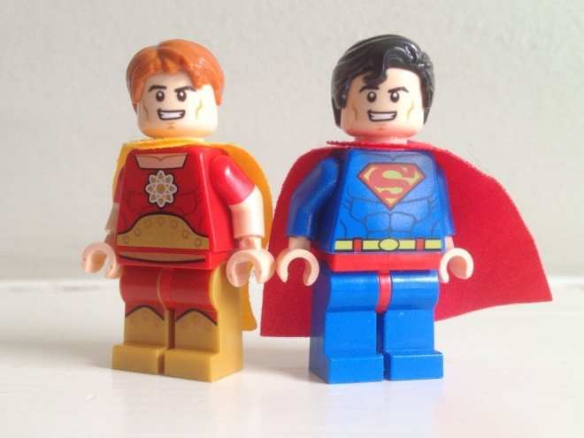 Hyperion and Superman LEGO minifigures