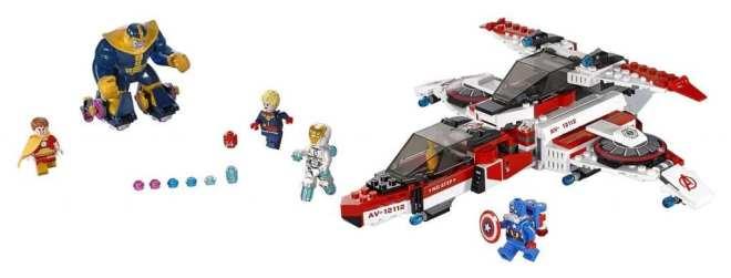LEGO Marvel Super Heroes Avenjet Space Mission Review packshot, Captain Marvel  LEGO