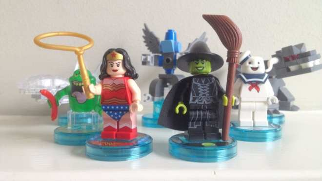 Lego Dimensons Wonder Woman Wicked Witch Slimer Stay Puft Ghostbusters