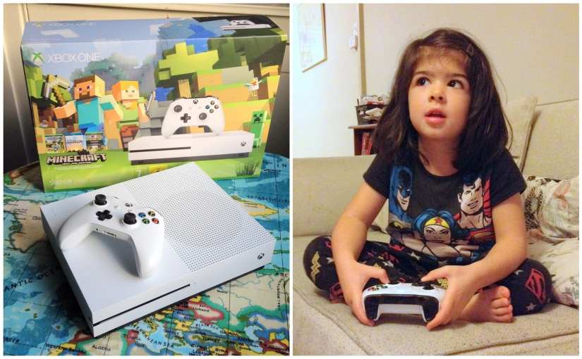 Raising a gamer girl, with help from the Xbox One S (Minecraft Edition)