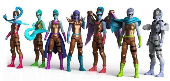 I am Elemental series 2 wisdom warriors, female action figures, action figures for girls and boys, anatomically correct female action figures
