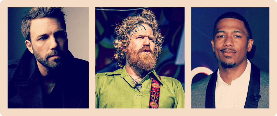 Ben Affleck, Brent Hinds, Nick Cannon.