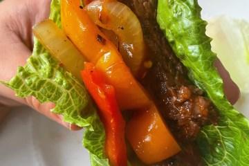 Steak lettuce wrap