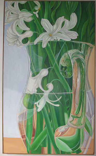 "Hyacinth in Glass Jug 67"" x 40"""