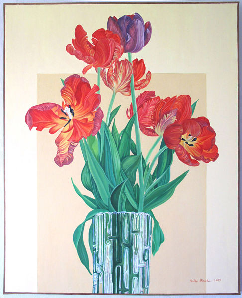 "Tulips in Glass Vase  45"" x 36"" (1.14 x 910mm)"