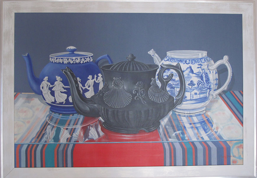 "Three Teapots 36"" x 24"" (91.5 x 610mm)"