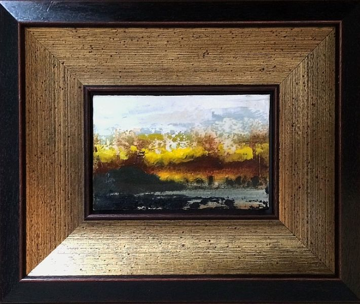 Spontaneous Landscape 2 with frame - 22cm x 26cm