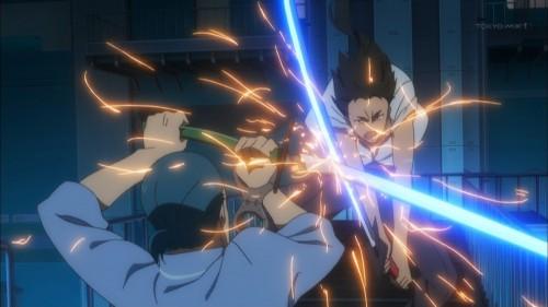 剣之介とフスナーニの戦い