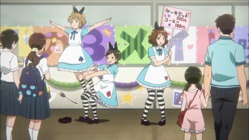久美子と葉月と緑輝のメイド姿(第6話画像)