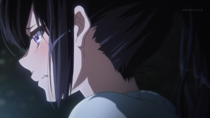 泣く高坂麗奈(第11話画像)
