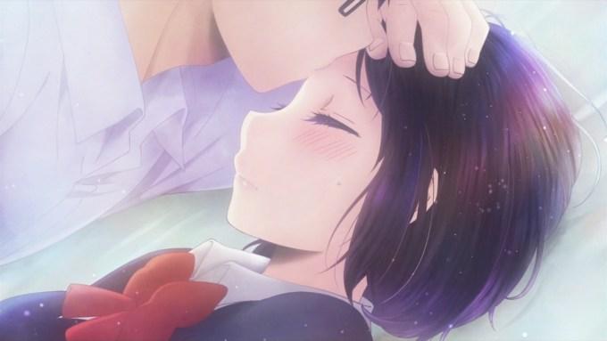 鳴海にキスされる花火(第1話画像)