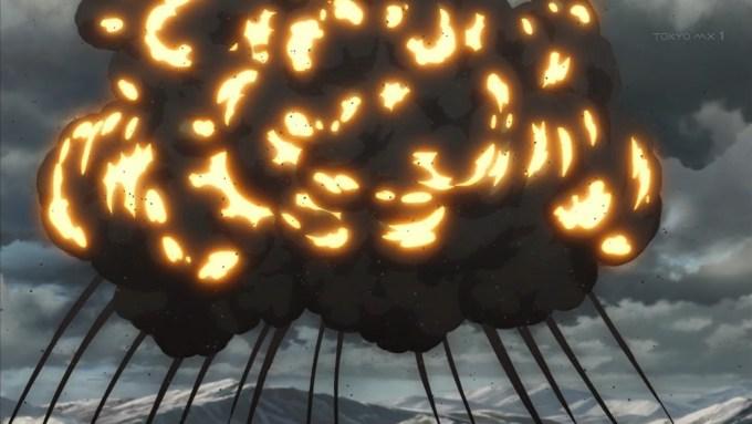 自爆するターニャ(第2話画像)