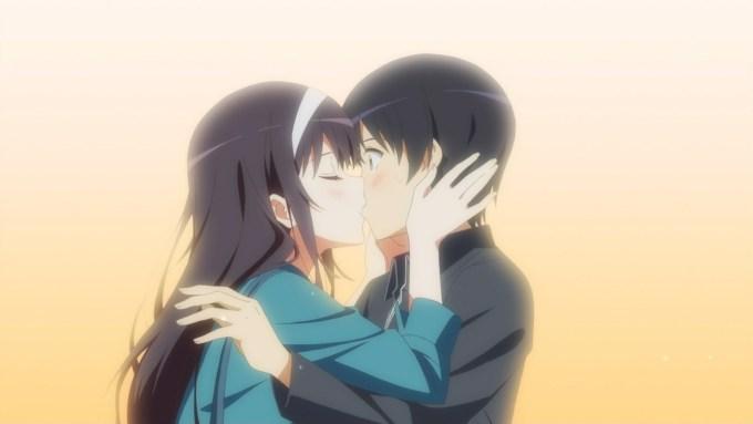 霞ヶ丘詩羽と安芸倫也のキス