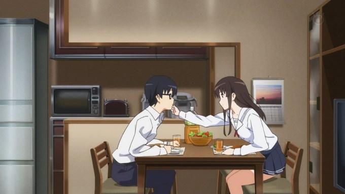 カレーを食べる安芸倫也と加藤恵,冴えない彼女の育てかた♭(2期)8話より