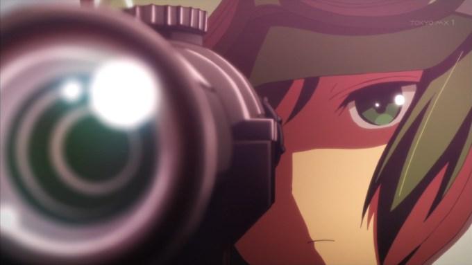 キノの狙撃シーン